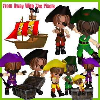 Pirate Clip Art For Teachers - Pirate Clipart