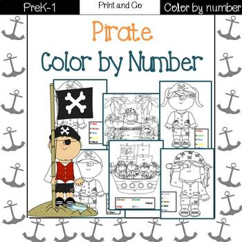 Pirate Color by Number (1-5)