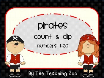 Pirate Theme Count & Clip 1-30 {Task Cards}