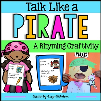 Pirate Craftivty and Rhyming Game