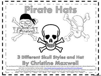 Pirate Hats for Mardi Gras or Pirate Day