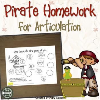 Pirate Homework for Articulation