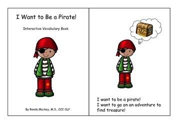 Pirate - Interactive Adapted Vocabulary Book (Preschool, S