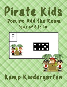 Pirate Kids Domino Add the Room (Sums of 6-10)
