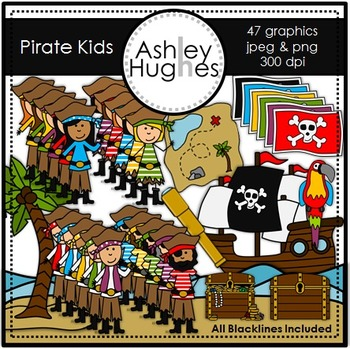 Pirate Kids {Graphics for Commercial Use}