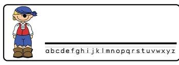 Pirate Kids Theme Desk Nameplates (Set of Four)