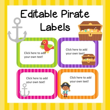 Pirate Labels *Editable*