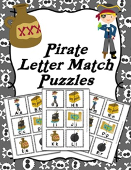 Pirate Letter Match Puzzles