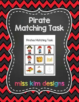 Pirate Matching Folder Game for students with Autism