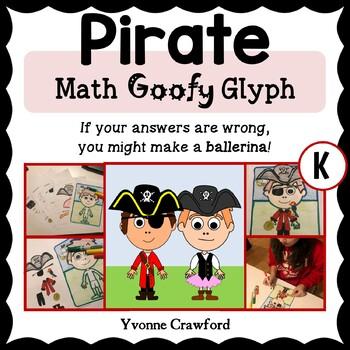 Pirate Math Goofy Glyph (Kindergarten Common Core)