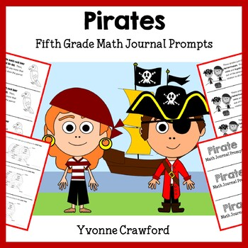 Pirates Math Journal Prompts (5th grade) - Common Core