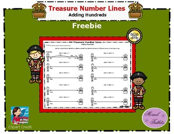 Treasure Number Lines- Adding Hundreds Extra Practice