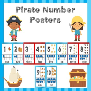 Pirate Number Posters 1-10
