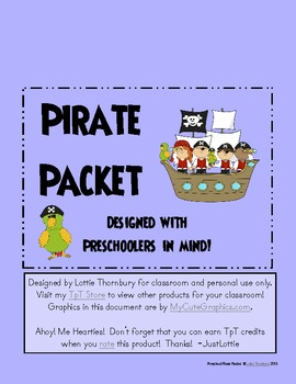 Pirate Packet: Preschool & Early Elementary Printables & A