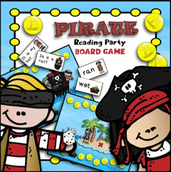 Pirate Reading Party Board Game (CVC Words and Sight Word