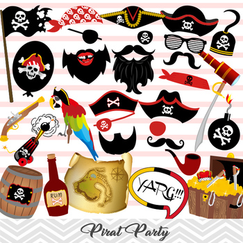 Pirate Party Photo Booth Props Pirate Party Photobooth Pro