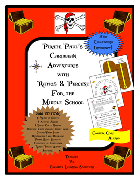 Pirate Paul's Adventures with Ratio & Percent for the Midd