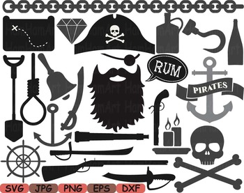Pirate Photo Booth Props Pirates clip art game Party Birth