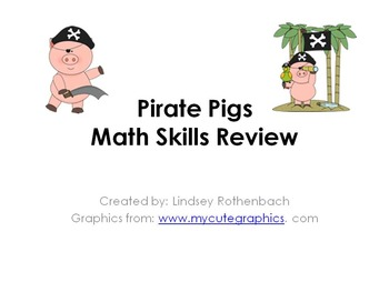 Pirate Pigs Math Review