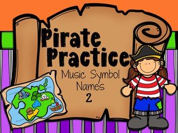 Pirate Practice Music Symbols Two