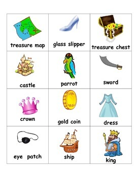 Pirate & Princess Sorting Words into Categories