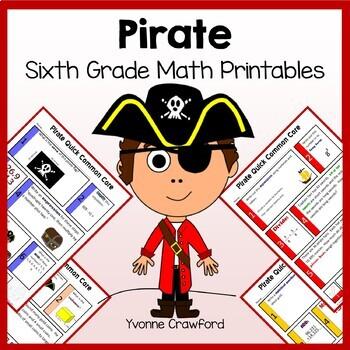 Pirates No Prep Common Core Math (6th grade)
