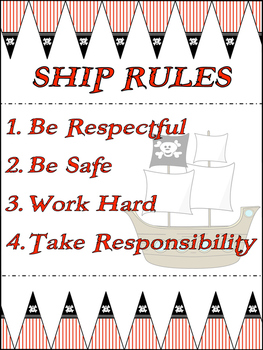 Pirate Classroom Rules Poster