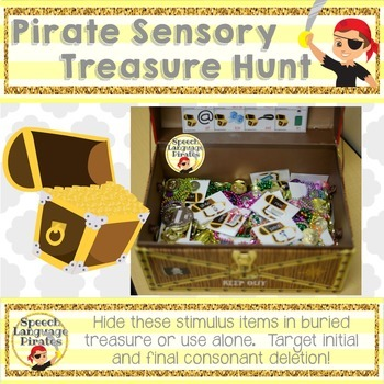 Pirate Sensory Treasure Hunt