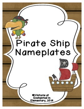Pirate Ship Nameplates