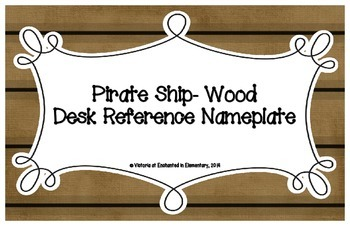 Pirate Ship Wood Desk Reference Nameplates