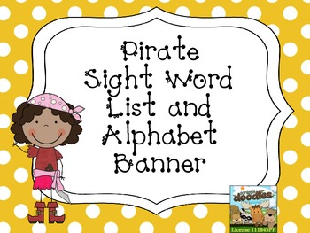 Pirate Sight Word List and Alphabet Banner