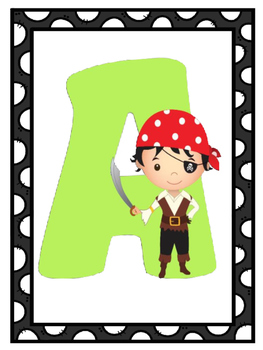 Pirate Theme Alphabet Posters | Pirate Themed Classrooom |