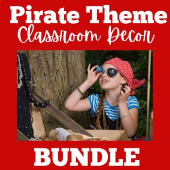 Pirate Theme BUNDLE   Pirate Themed Classrooom   Pirates Theme