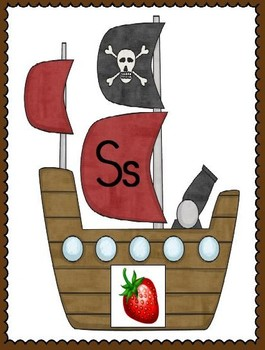 Ahoy, Maties! Pirate Theme Alphabet Posters
