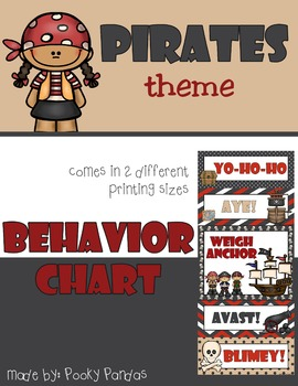 Pirate Theme - Behavior Chart - Classroom Decor