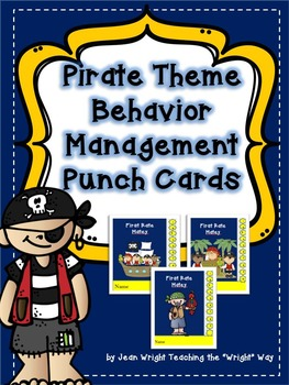 Pirate Theme Behavior Management Punchcards
