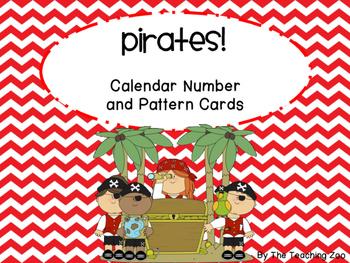Pirate Theme Calendar Number Cards