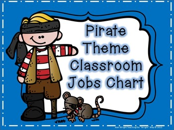 Pirate Theme Classroom Jobs Chart