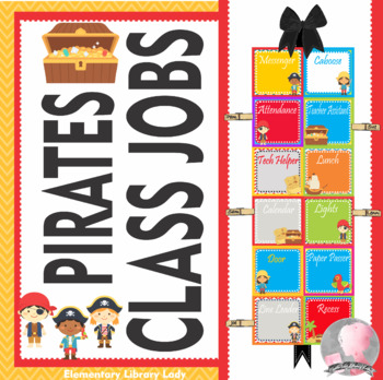 Pirate Theme Classroom Jobs - EDITABLE