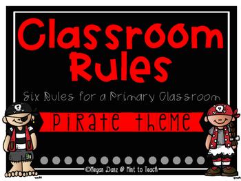 Pirate Theme Classroom Rules Mini Posters