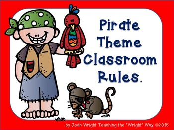 Pirate Theme Classroom Rules (editable)