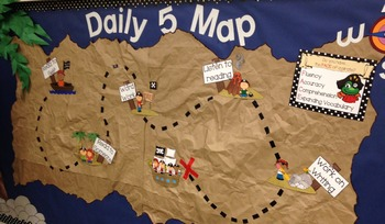 Pirate Theme Daily 5 Bulletin Board