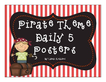 Pirate Theme Daily 5 Posters