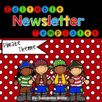 Pirate Theme Editable Newsletter Templates