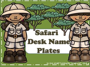 Safari Theme Name Plates