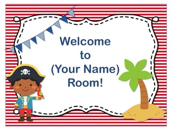 Pirate Theme Open House ~ Back to School ~ PowerPoint Temp