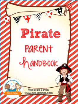 Pirate Theme Parent Handbook ~ Printable ~ Back-to-School