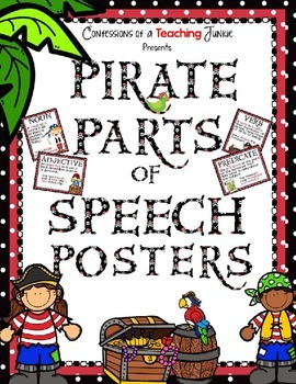 Pirate Theme Parts of Speech Posters Set