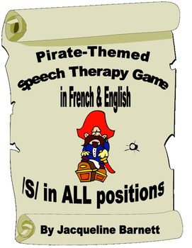 Pirate Theme Speech Therapy Game in French & English-- /s/
