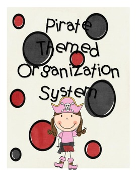 Pirate Themed Back to School Organization System